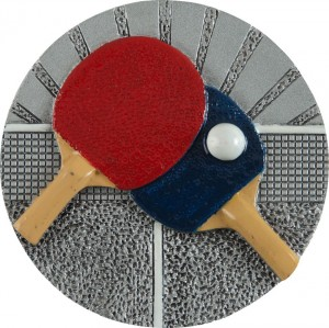 12 - Emblemat kolorowy tenis stołowy ping pong